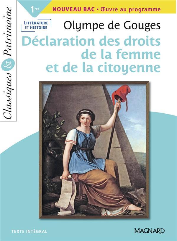 La déclaration des droits de la femme et de la citoyenne