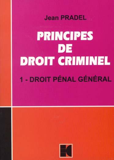 principes de droit criminel