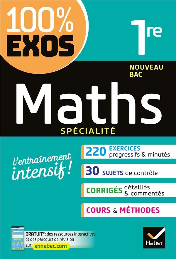 100 Exos Maths 1ere Specialite F S Barache R S Bauer Hatier Grand Format Le Hall Du Livre Nancy