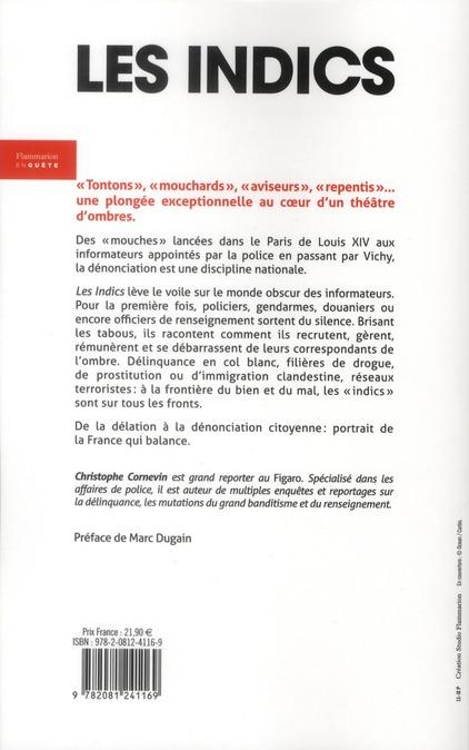 Les indics ; la face cachée de la police française