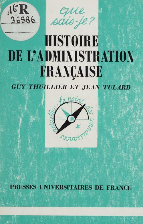 Histoire de l'administration française