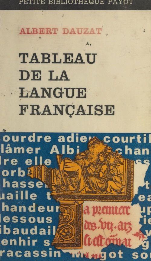 Tableau de la langue française