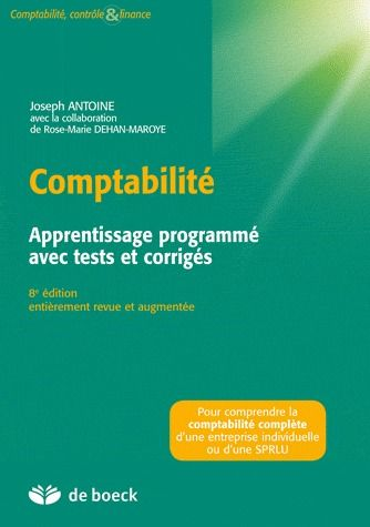 Comptabilite Apprentissage Programme Avec Tests Et  Corriges