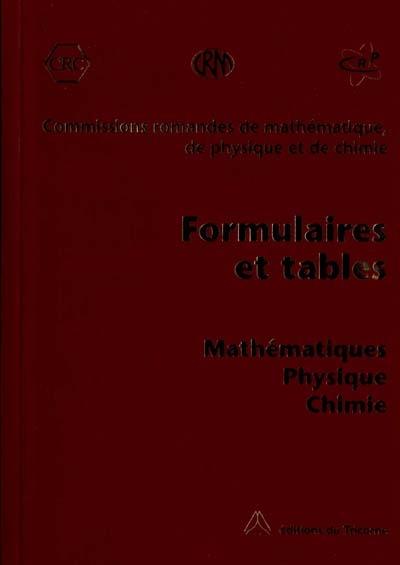 Formulaires et tables . mathematiques physiquechimie