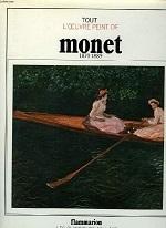 Monet ; tout l'oeuvre peint