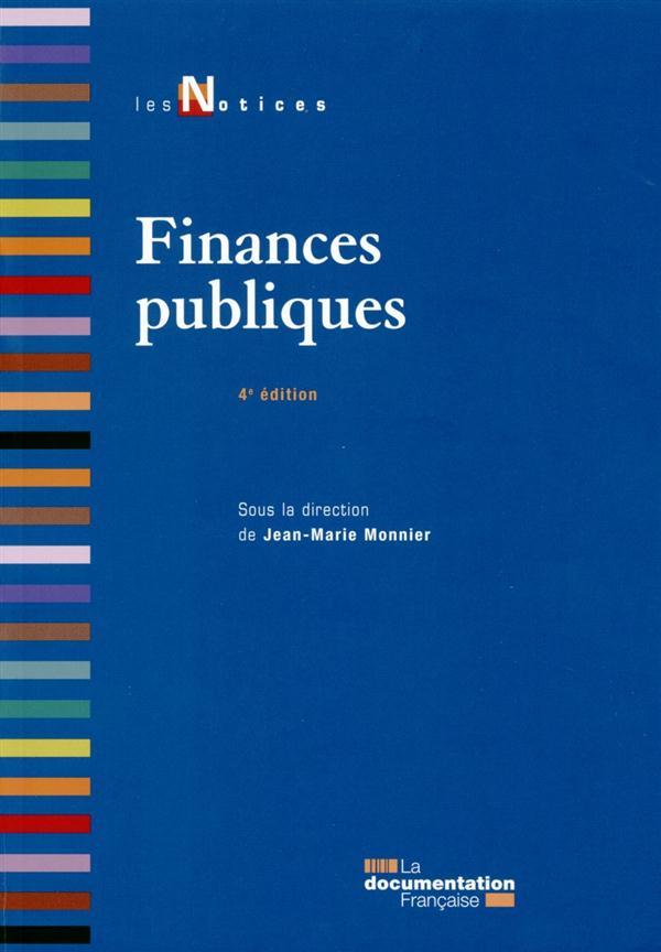 Les finances publiques (4e édition)