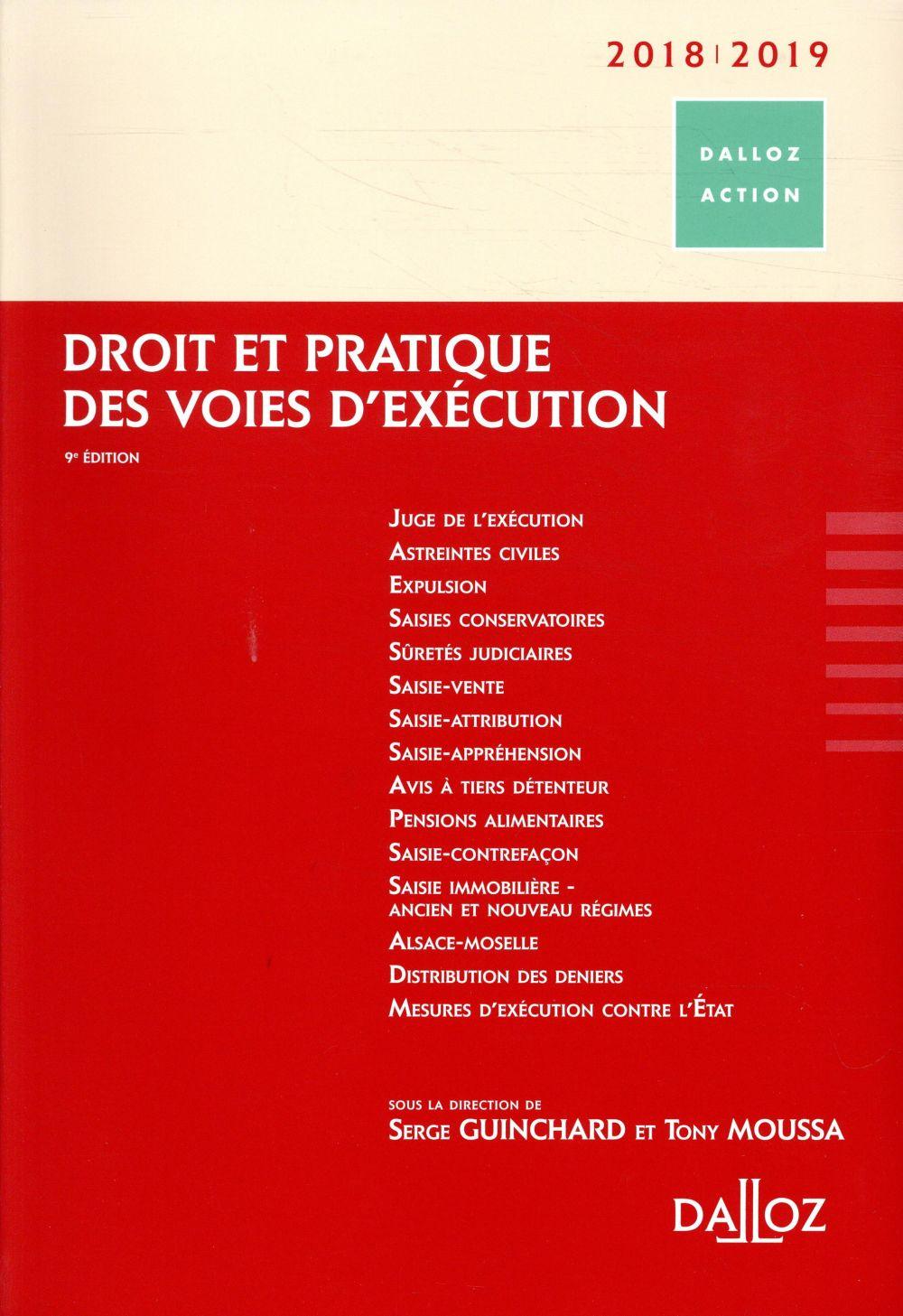 Droit et pratique des voies d'exécution (édition 2018/2019) (9e édition)