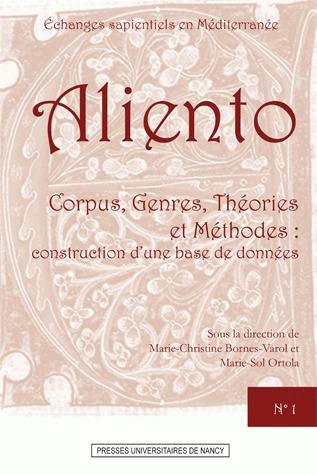 Aliento ; corpus, genres, théories et méthodes : construction d'une base de données
