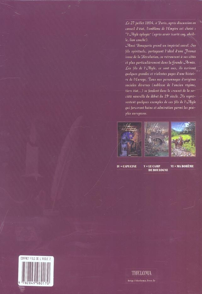 LES FILS DE L'AIGLE ; coffret t.4 a t.6