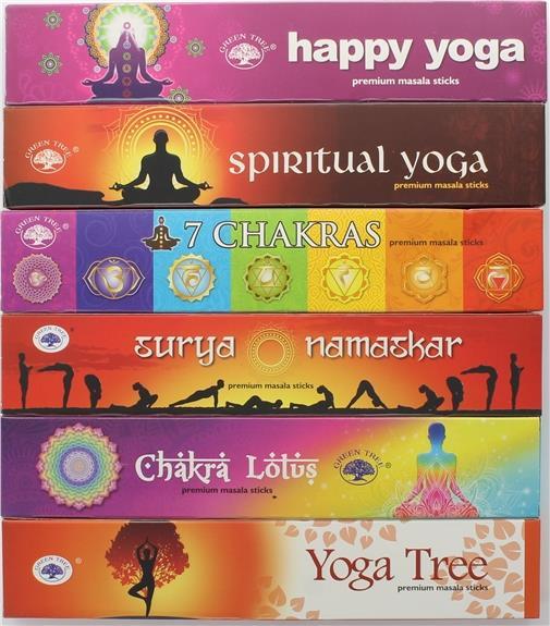 Coffret encens baton green tree yoga 6 fragrances