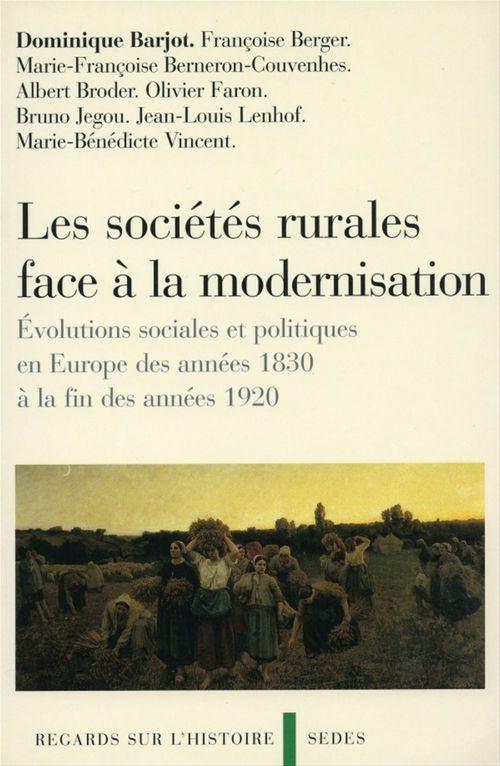 Les societes rurales face a la modernisation