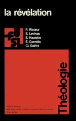 La révélation  - Claude Geffré - Edgar Haulotte - Étienne CORNELIS - Paul Ricoeur - Emmanuel Lévinas
