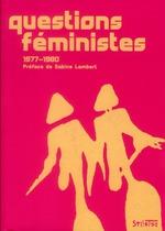 Couverture de Questions féministes (1977-1980)