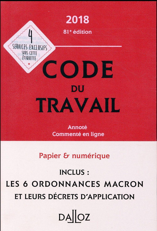 Code du travail annoté et commenté en ligne (édition 2018)