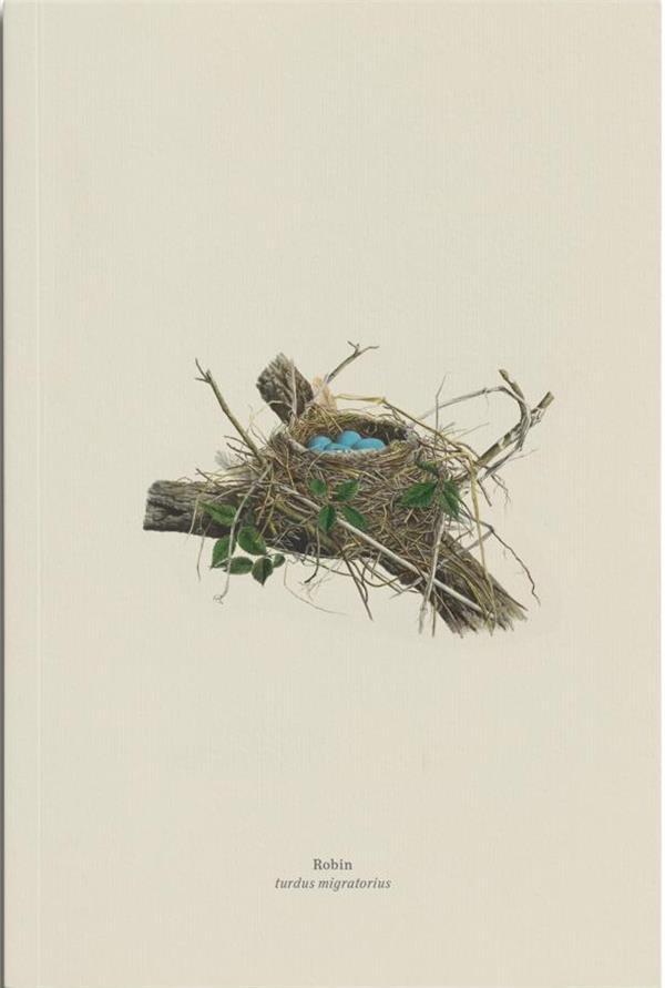 Carnet merle d'amerique (robin, turdus migratorius)