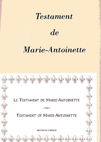 Le testament de Marie-Antoinette