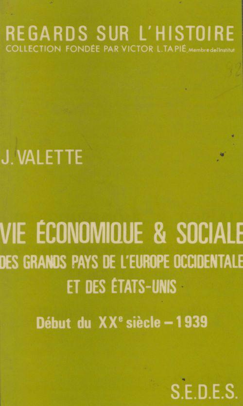 Vie economique et sociale des grands pays de l'europe occ