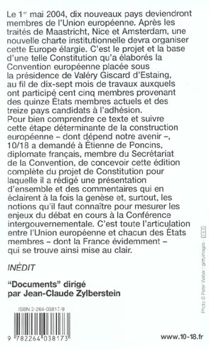 vers une constitution europeenne ; textes et commentaires