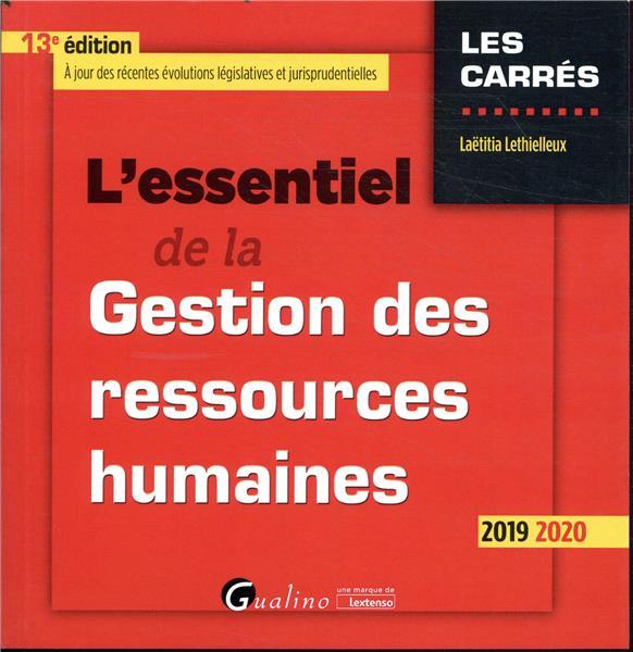 L'essentiel de la gestion des ressources humaines - 13e ed.
