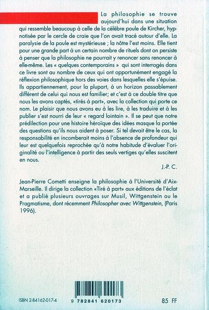 le philosophe et la poule de Kircher quelques contemporains