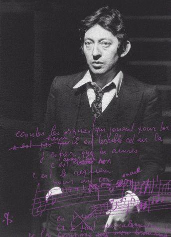 Les manuscrits de Serge Gainsbourg ; brouillons, dessins et inédits