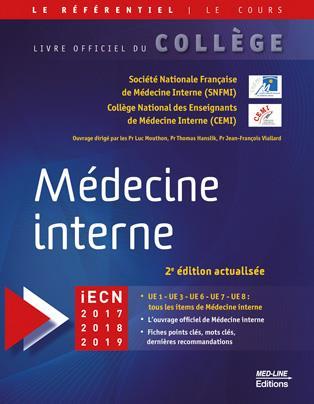 Médecine interne ; livre officiel du Collège National de médecine interne (2e édition)
