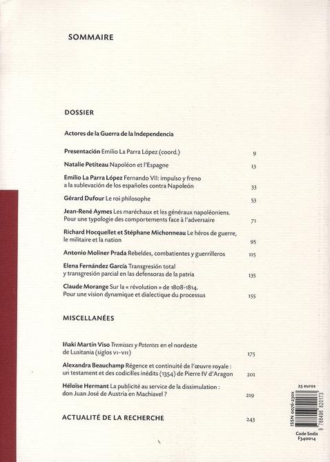 Revue melanges n.38/1 ; les acteurs de la guerre d'independance