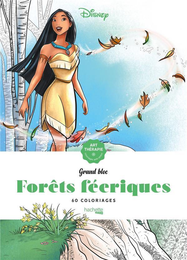 Art-thérapie ; grand bloc ; forêts féeriques ; 60 coloriages