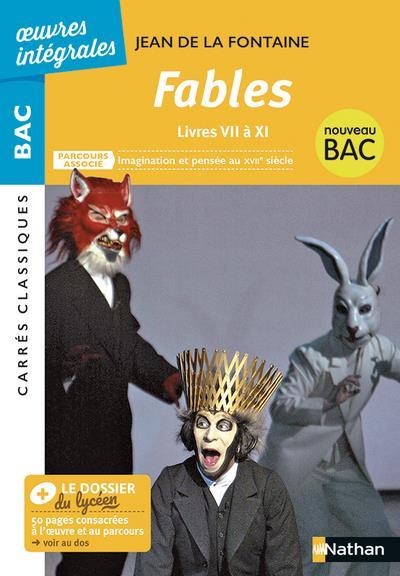 LA FONTAINE, JEAN DE - FABLES  -  LIVRES VII A XI