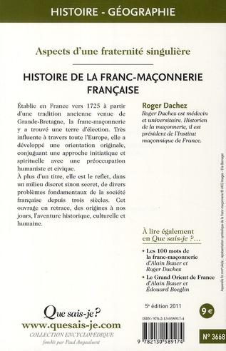 Histoire de la franc-maçonnerie française (5e édition)