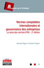 Vente EBooks : Normes comptables internationales et gouvernance des entreprises  - Benoît Pigé - Xavier Paper