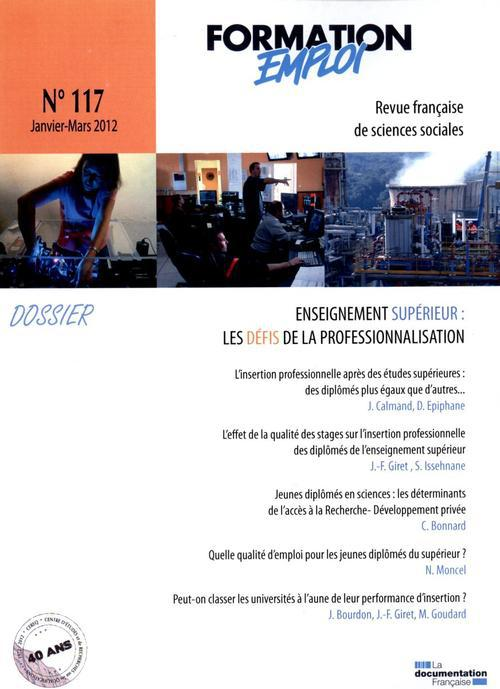Prospective formation emploi n.117