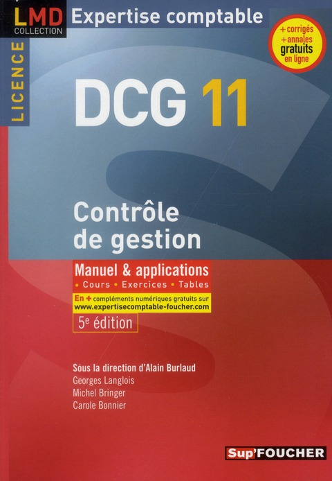 Dcg 11 ; Controle De Gestion ; Manuel Et Applications (5e Edition)