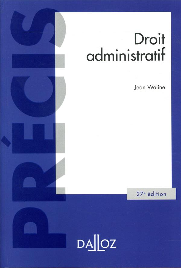 Droit administratif (27e édition)