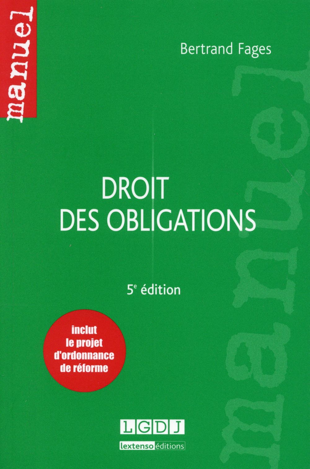 Droit des obligations (5e édition)