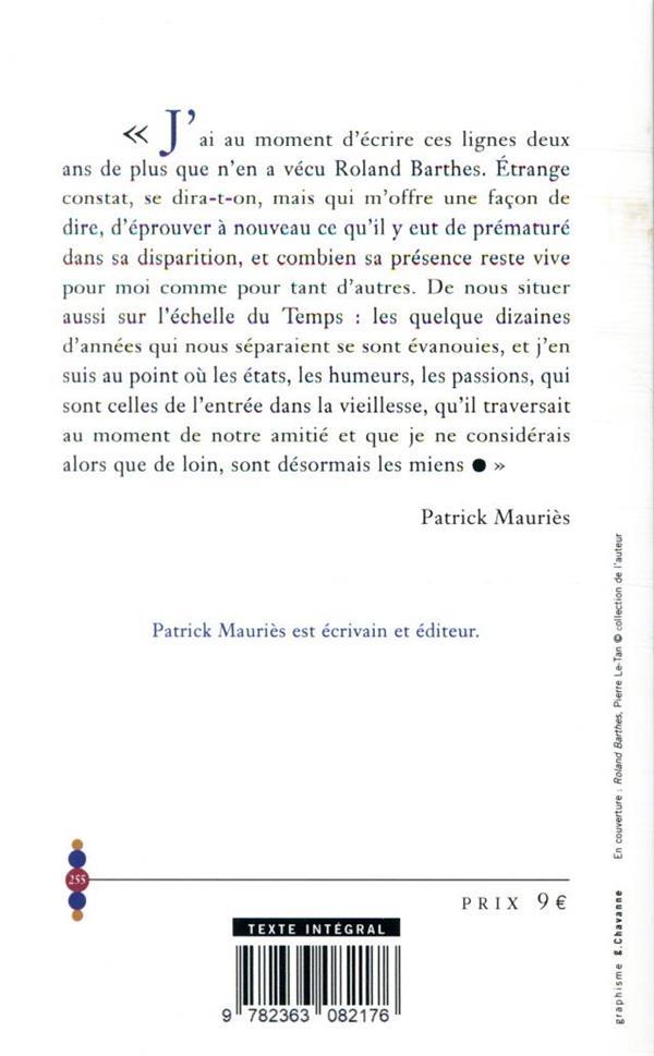 Roland Barthes ; au fil du temps