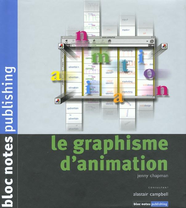 Bloc notes publication graphisme d'animation