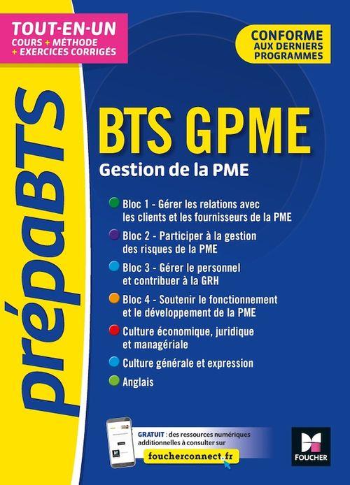 PREPABTS ; BTS GPME, gestion de la PME ; tout-en-un