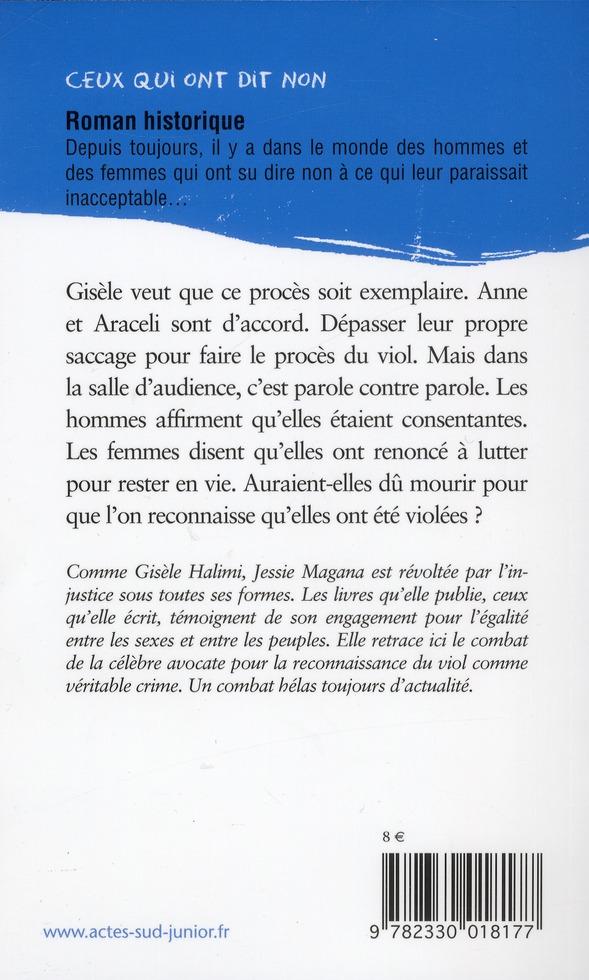 Gisèle Halimi : non au viol