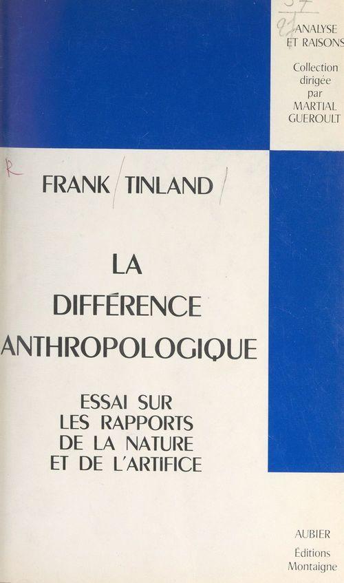 La différence anthropologique