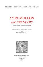 """Vente Livre Numérique : Le """"Romuleon"""" en françois / Traduction de Sébastien Mamerot  - Sébastien Mamerot - Frédéric Duval"""