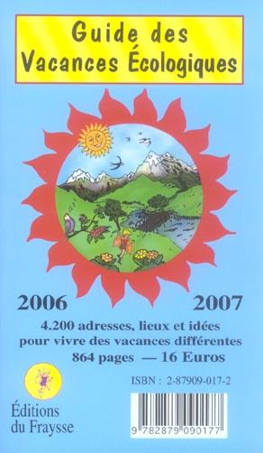 Guide des vacances ecologiques 2006/2007