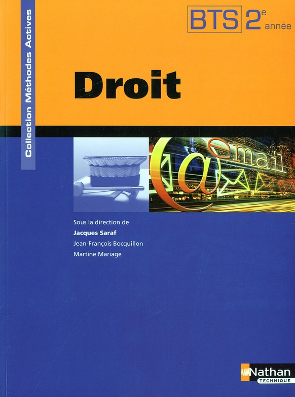 Droit Bts 2eme Annee (Methodes Actives) Eleve 2010