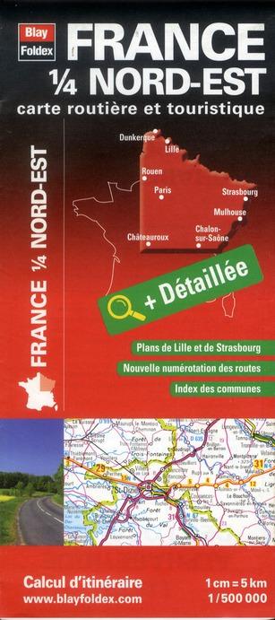 Carte routière & touristique ; France ; 1/4 Nord-Est (édition 2012)