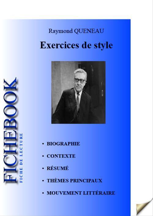 Exercices de style ; fiche de lecture