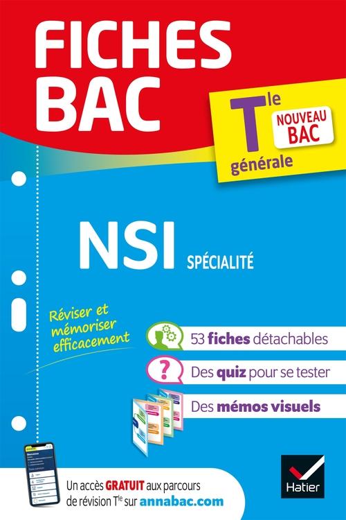 Vente Livre Numérique : Fiches bac ; NSI, spécialité ; terminale générale  - Guillaume Connan  - Vojislav Petrov  - Laurent Signac  - Gérard Rozsavolgyi