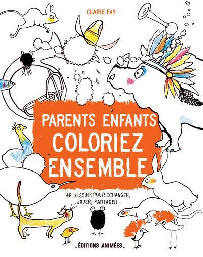 Parents-enfants ; coloriez ensemble
