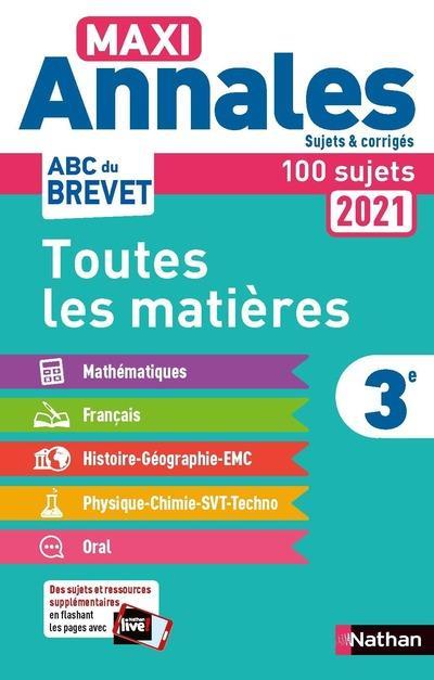 MAXI ANNALES ABC DU BREVET T.8 ; toutes les matières ; 3e (édition 2020)
