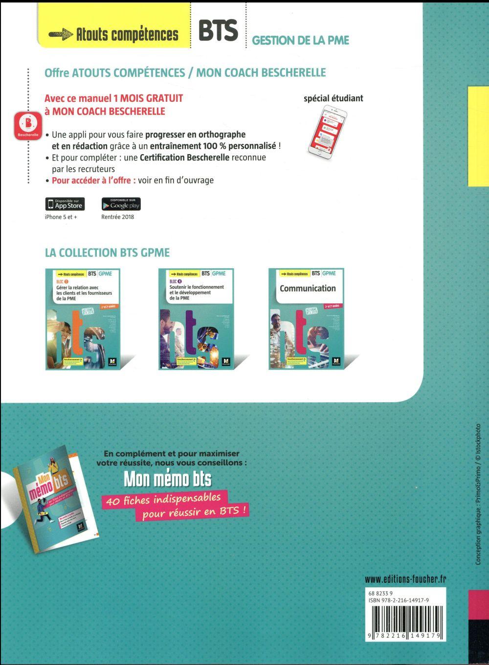 Communication ; BTS 1&2 GPME ; manuel (édition 2018)