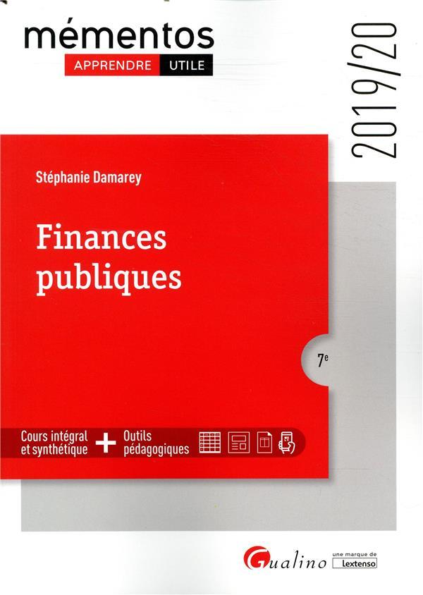 Finances publiques - 7e ed. - elaboration - execution - controle
